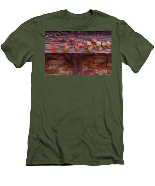 Colorful Tree Leaves Changing Color For Auyumn,fall Season In Oc Men's T-Shirt (Slim Fit) by Jingjits Photography