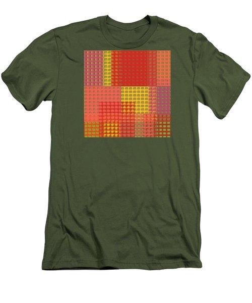 Colorful Weave Men's T-Shirt (Slim Fit) by Bonnie Bruno