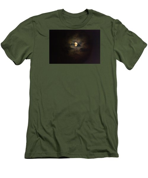 Men's T-Shirt (Slim Fit) featuring the photograph Colorfull Moon by Ramona Whiteaker