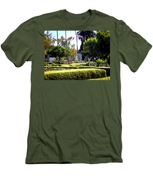 Men's T-Shirt (Slim Fit) featuring the photograph Colors In The Garden by Glenn McCarthy Art and Photography