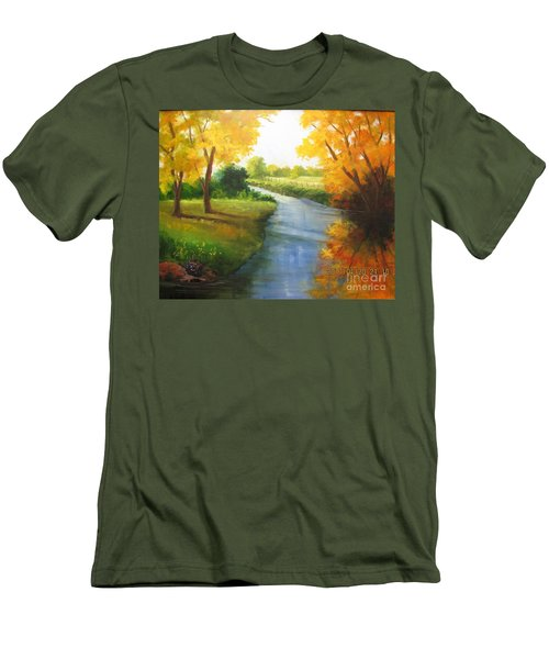 Colors Of Fall Men's T-Shirt (Slim Fit)