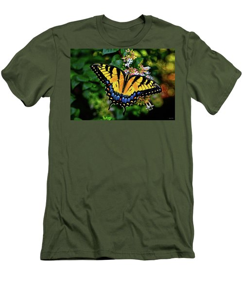 Men's T-Shirt (Slim Fit) featuring the photograph Colors Of Nature - Swallowtail Butterfly 003 by George Bostian