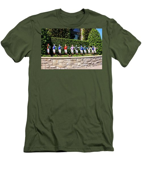 Colors Of Past Stakes At Keeneland Ky Men's T-Shirt (Slim Fit) by Chris Smith