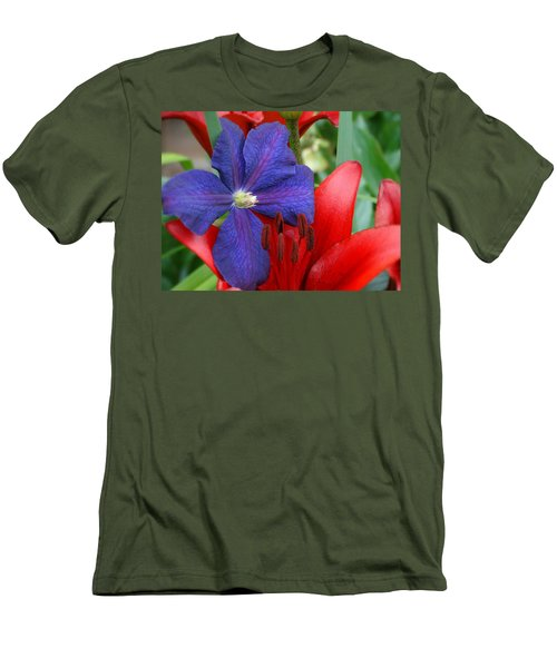 Colors Of Summer Men's T-Shirt (Slim Fit) by Rebecca Overton