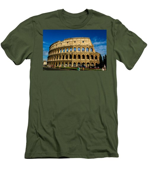 Colosseo Roma Men's T-Shirt (Slim Fit) by Rainer Kersten