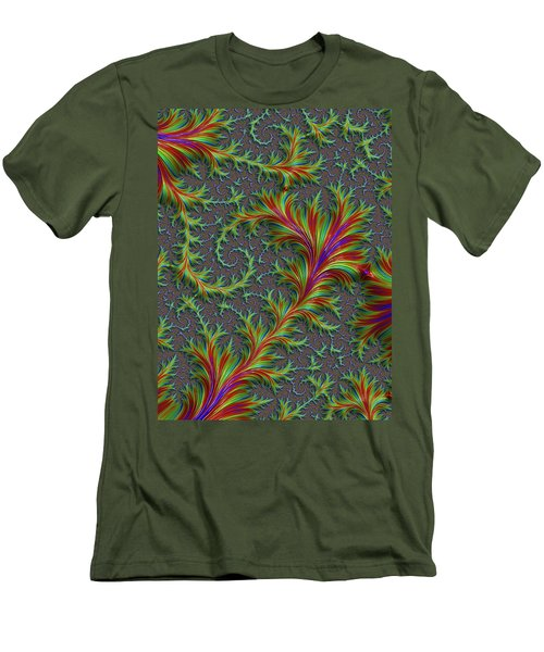 Colourful Fronds Men's T-Shirt (Slim Fit) by Rajiv Chopra