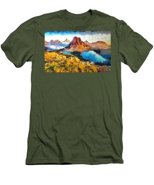 Columbia Lake Reverie Men's T-Shirt (Slim Fit) by Mario Carini