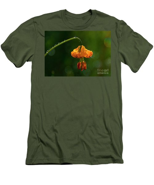 Columbia Lily With Dew Men's T-Shirt (Athletic Fit)