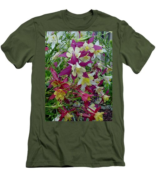 Columbine Men's T-Shirt (Slim Fit) by Shirley Heyn