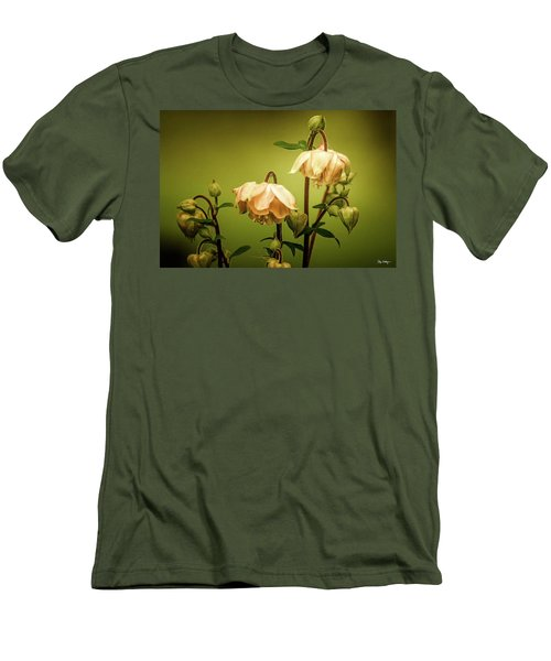 Columbines In Summer Men's T-Shirt (Slim Fit) by Skip Tribby