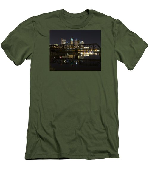 Men's T-Shirt (Slim Fit) featuring the photograph Columbus Skyline by Alan Raasch