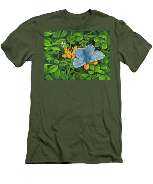 Common Blue On Bird's-foot Trefoil Men's T-Shirt (Athletic Fit)