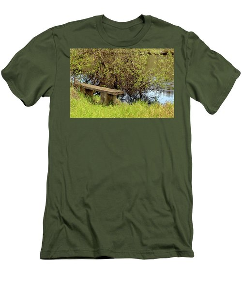 Men's T-Shirt (Slim Fit) featuring the photograph Communing With Nature by Art Block Collections