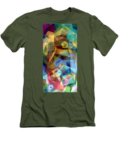 Men's T-Shirt (Athletic Fit) featuring the digital art Complicated Sunset by Rafael Salazar