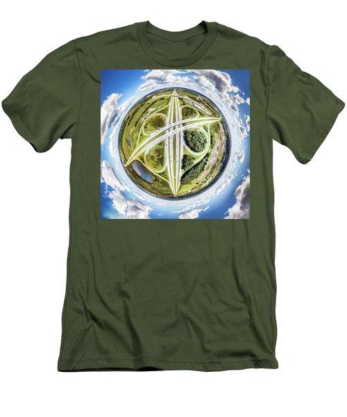 Men's T-Shirt (Athletic Fit) featuring the photograph Concrete Spaghetti by Randy Scherkenbach
