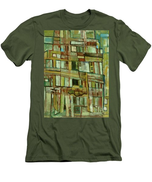 Men's T-Shirt (Slim Fit) featuring the painting Condo by Paul McKey