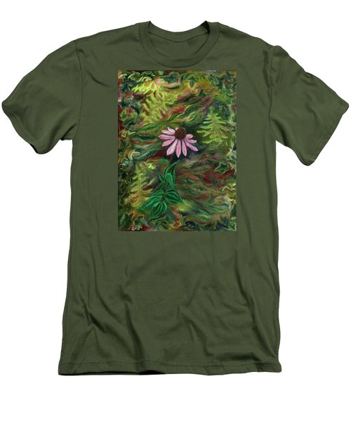 Coneflower Men's T-Shirt (Slim Fit) by FT McKinstry