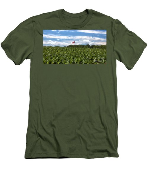 Confederate Flag In Tobacco Field Men's T-Shirt (Athletic Fit)