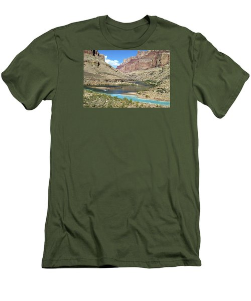 Confluence Of Colorado And Little Colorado Rivers Grand Canyon National Park Men's T-Shirt (Athletic Fit)
