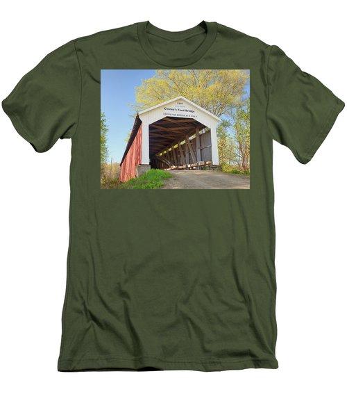 Conley's Ford Covered Bridge Men's T-Shirt (Slim Fit) by Harold Rau