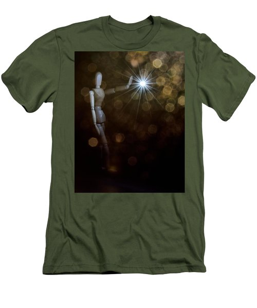 Contact Men's T-Shirt (Slim Fit) by Mark Fuller