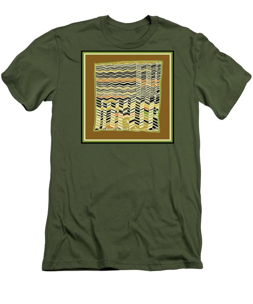 Men's T-Shirt (Athletic Fit) featuring the digital art Contemporary Kuba Cloth by Vagabond Folk Art - Virginia Vivier