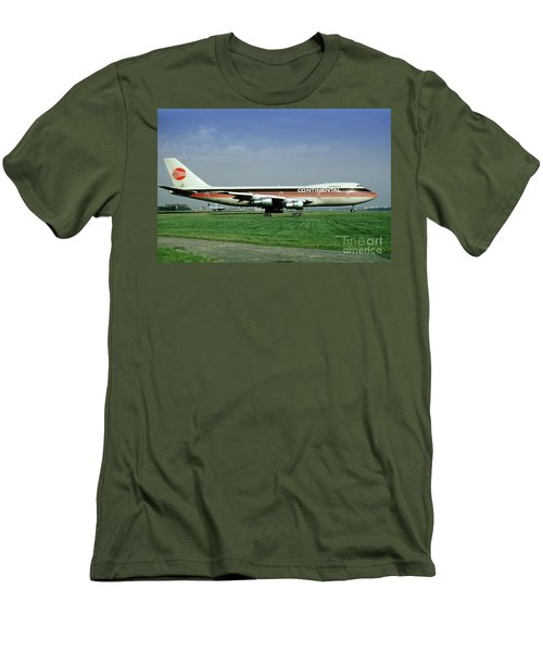 Continental Airlines Boeing 747-243b, N605pe, October 1988 Men's T-Shirt (Athletic Fit)