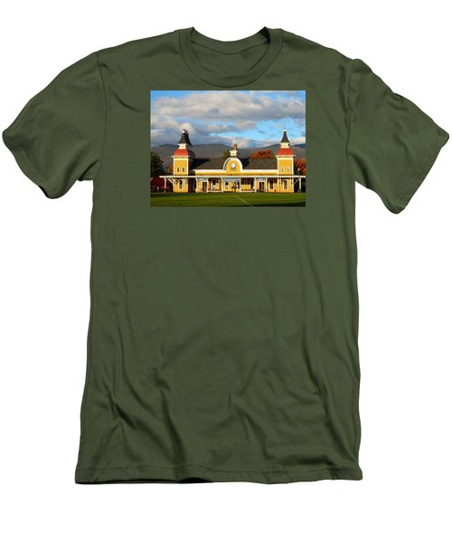 Conway Scenic Railroad 1 Men's T-Shirt (Slim Fit) by Nancy De Flon