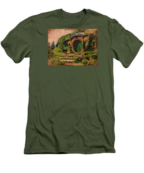 Corgi At Hobbiton Men's T-Shirt (Athletic Fit)