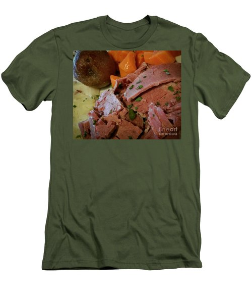 Men's T-Shirt (Slim Fit) featuring the photograph Corn Beef by Raymond Earley
