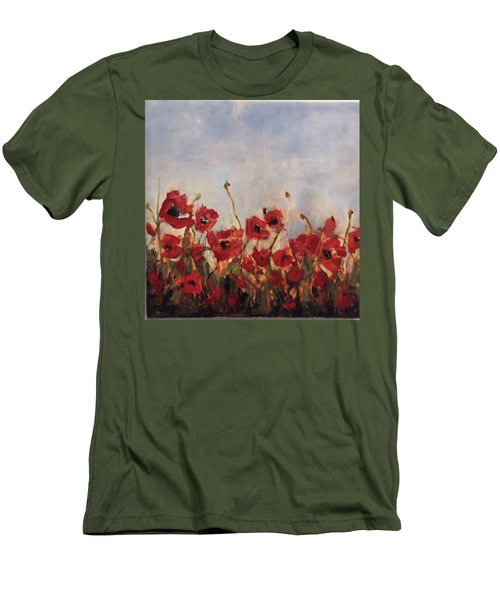 Corn Poppies Men's T-Shirt (Athletic Fit)