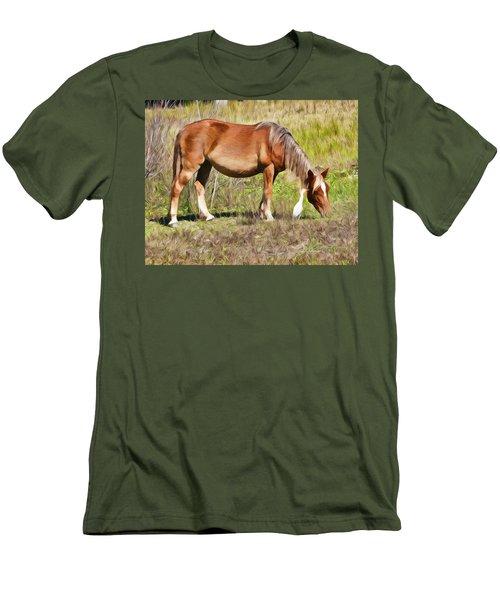Corolla's Wild Horses Men's T-Shirt (Athletic Fit)