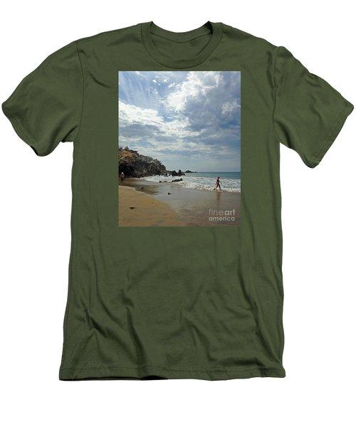 Corona Del Mar 3 Men's T-Shirt (Slim Fit) by Cheryl Del Toro