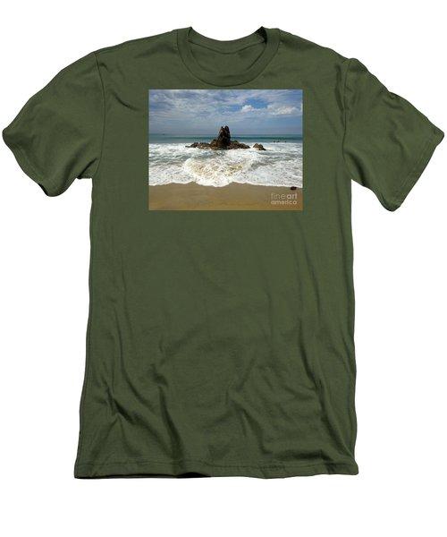 Corona Del Mar 4 Men's T-Shirt (Slim Fit) by Cheryl Del Toro