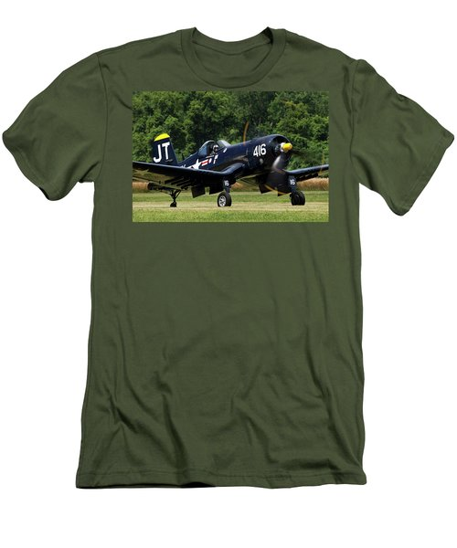 Men's T-Shirt (Slim Fit) featuring the photograph Corsair Close-up by Peter Chilelli