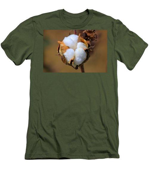 Cotton Boll Men's T-Shirt (Athletic Fit)