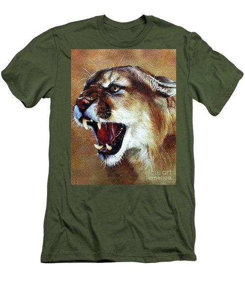Cougar Men's T-Shirt (Slim Fit) by J W Baker