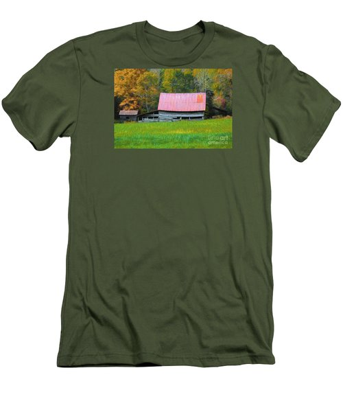 Country Autumn  Men's T-Shirt (Slim Fit) by Marion Johnson