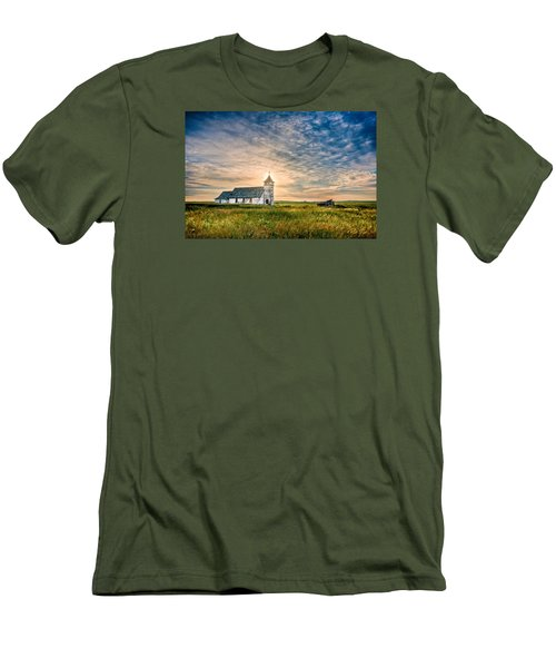 Country Church Sunrise Men's T-Shirt (Slim Fit) by Rikk Flohr