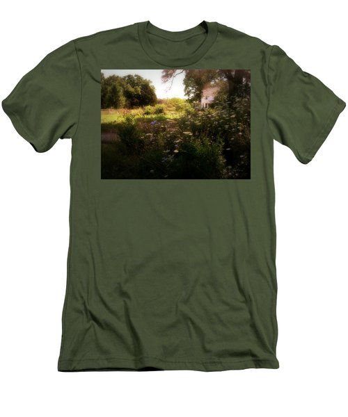 Men's T-Shirt (Slim Fit) featuring the photograph Country House by Cynthia Lassiter