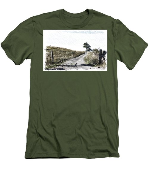 Men's T-Shirt (Slim Fit) featuring the photograph Country Lane by RKAB Works