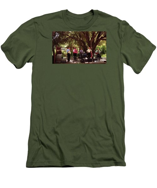 Country Music California Stage Men's T-Shirt (Slim Fit) by Ted Pollard