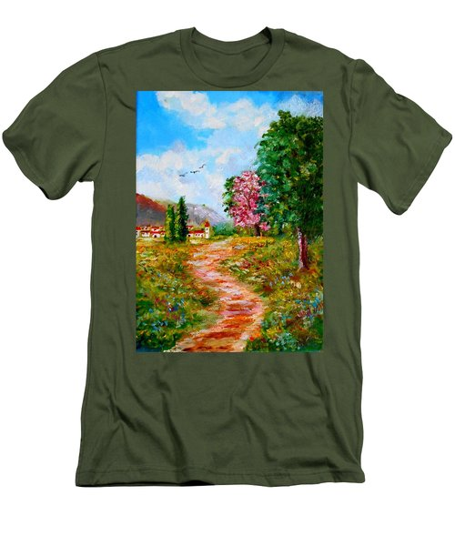 Country Pathway In Greece Men's T-Shirt (Athletic Fit)
