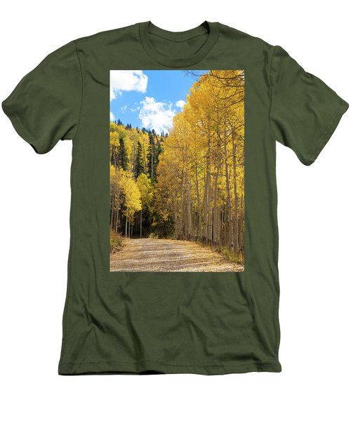 Country Roads Men's T-Shirt (Slim Fit) by David Chandler