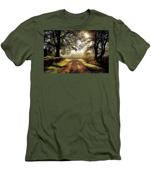 Country Roads Men's T-Shirt (Slim Fit) by Ronda Ryan