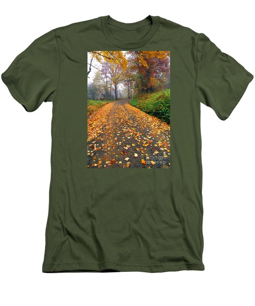 Country Roads Take Me Home Men's T-Shirt (Slim Fit) by Thomas R Fletcher