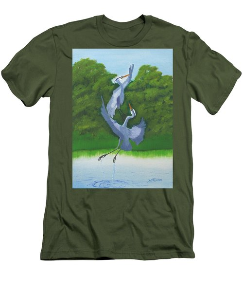 Courtship Dance Men's T-Shirt (Slim Fit) by Mike Robles