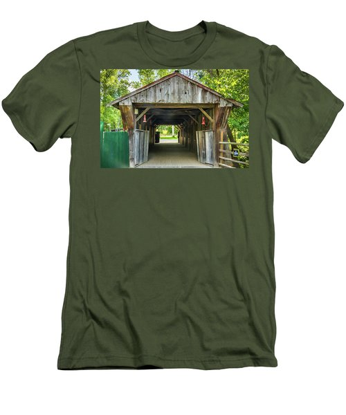 Covered Bridge Hdr Men's T-Shirt (Athletic Fit)