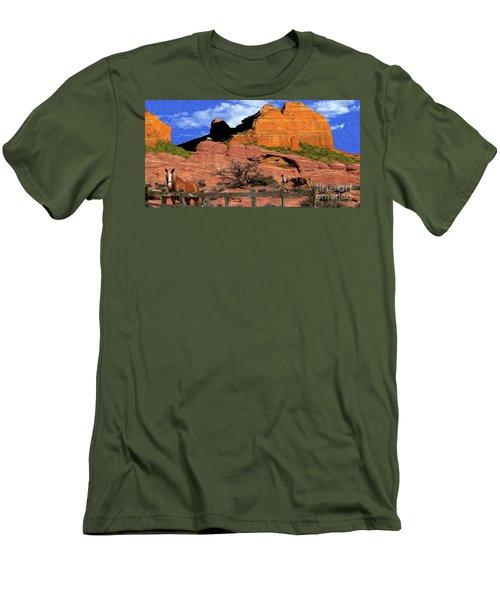 Cowboy Sedona Ver3 Men's T-Shirt (Athletic Fit)