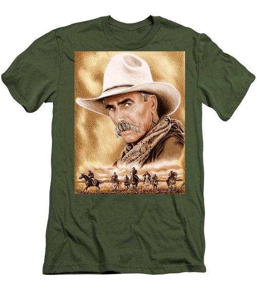 Cowboy Sepia Edit Men's T-Shirt (Athletic Fit)
